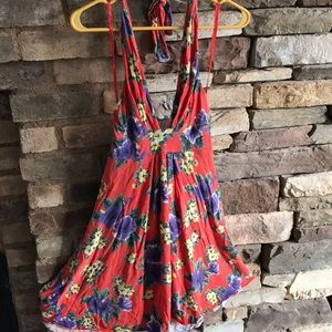 Free People Halter Hawaiian Dress
